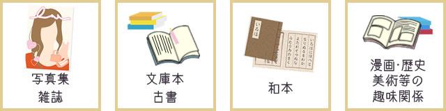 大阪で宅配・出張も可能な高額古本買取を行う森川古書店にて買取可能なジャンルは、写真集・雑誌、文庫本・古書、和本、漫画・歴史や美術等の趣味関係