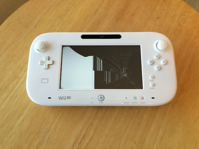 WiiUのゲームパッド液晶故障修理 大阪 梅田のお客様