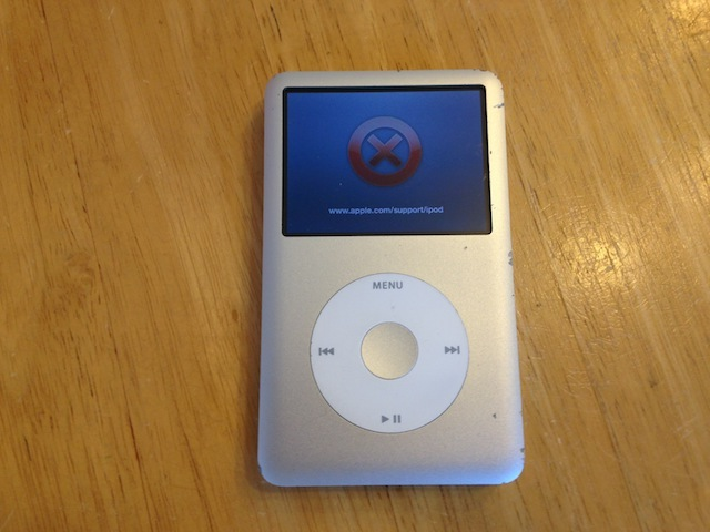 ipod classic/iphone/ipod nano7修理 吹田のお客様