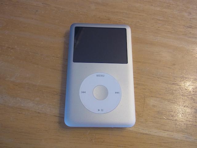吹田のお客様 iPod classicリンゴマーク 持ち込み修理予約