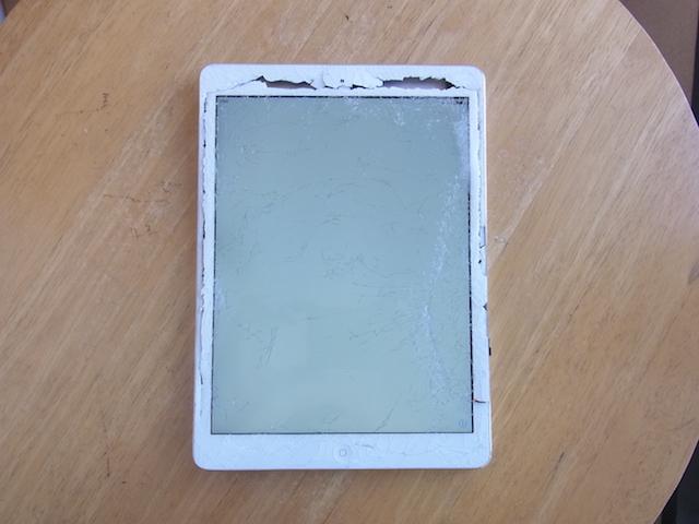 吹田のお客様 画面割れiPad買取 持ち込み予約
